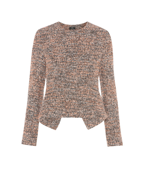 Cue Speckled Boucle Peplum Jacket $189.50