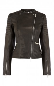 Karen Millen Black Leather Biker Jacket