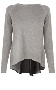 Karen Millen Fabric Mixing Knit Jumper