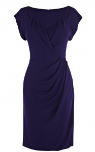 Karen Millen Modern Jersey Dress in Purple $325.00