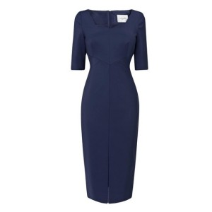 L.K. Bennett Lander Seamed Dress in Blue 245GBP