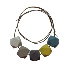 Snow storm wood necklace at Hard to Find $45.00